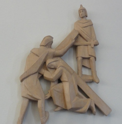 One of the depictions of the cross at All Saints, Rhiwbina
