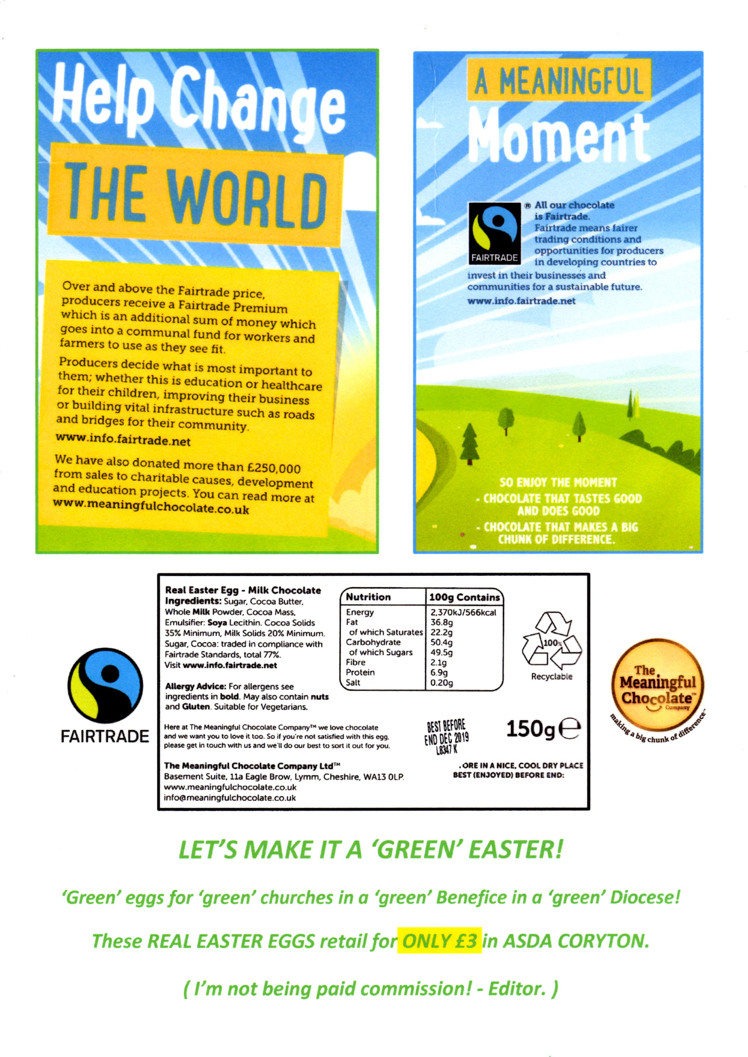 Did You Know You Can Buy Green Easter Eggs Benefice Of